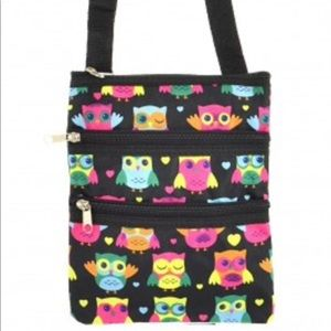 Handbags - Owl Print Messenger Swingpack Bag